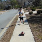 Brenn drives his new RC truck