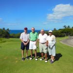 Dan, Gil, Paul and Joyce at Emerald course