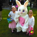 Kinsey and Caitlin with the Easter Bunny
