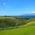 Plantation course looking toward Molokai
