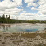 Entering the Geyser basin
