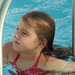 Kinsey in the pool