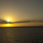 Sunset over Port Canaveral