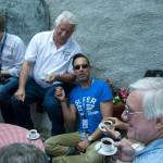 Enjoying Turkish coffee