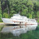 Abandoned cruise boat