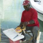 Conch being prepared